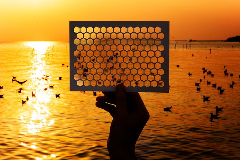 SVG  Seamless Honeycomb Pattern // Cut Files // Digital image 0