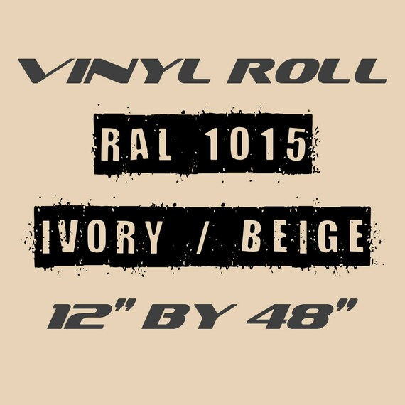 Ivory / Beige - RAL 1015 - GLOSS Vinyl Roll - For Indoors or Outdoors - 75 Microns