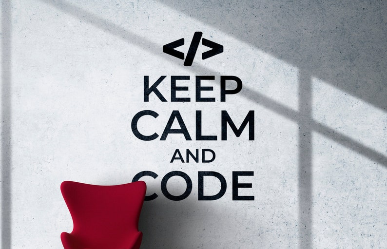 SVG  Keep Calm and Code // eps pdf psd dxf jpg png bmp // image 0