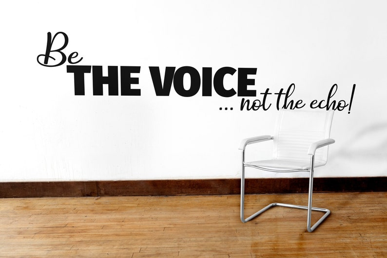 SVG  Be the voice not the echo // Vector Typography // image 0