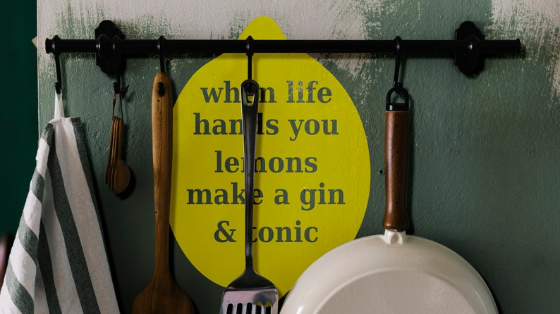 SVG  When life hands you lemons make a Gin and Tonic // image 0