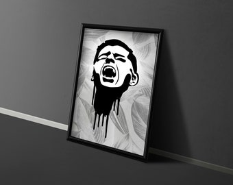SVG   The Scream 2 // Universally Compatible Cut Files // DARKNESS SERIES // eps pdf psd dxf jpg png bmp