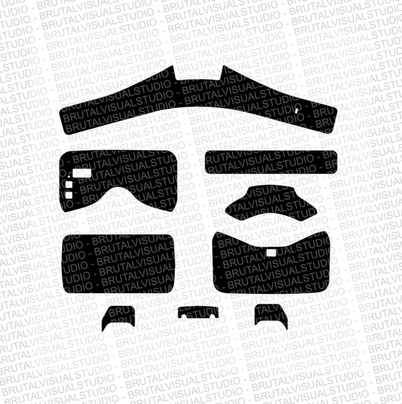 DJI Goggles - Skin Cut Template  - Templates for cut or machining - Digital Download - Plotter, CNC, Laser Cutter - Drone Skin Cut File