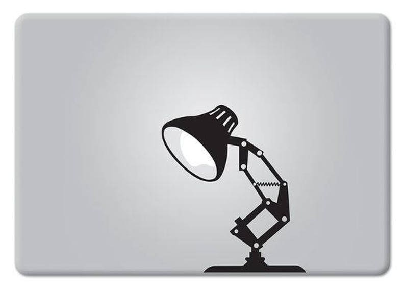 Desk Lamp Pixar Style Lamp Decal Sticker mac Lamp Macbook image 0
