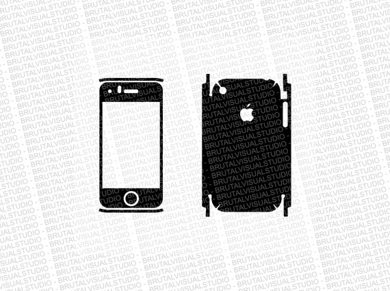 Iphone 3GS - Skin Cut Template - Templates for cutting or machining - Digital Download - Plotter, CNC, Laser Cutter - SVG - Full Wrap