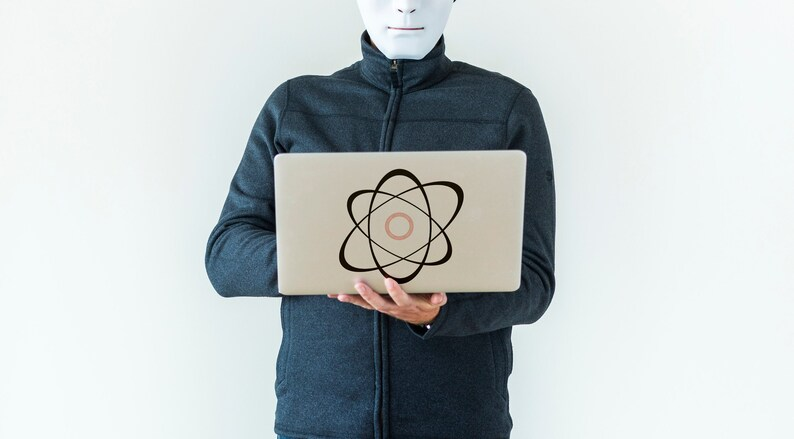 SVG  The Atom // Vector // Universally Compatible Cut Files image 0