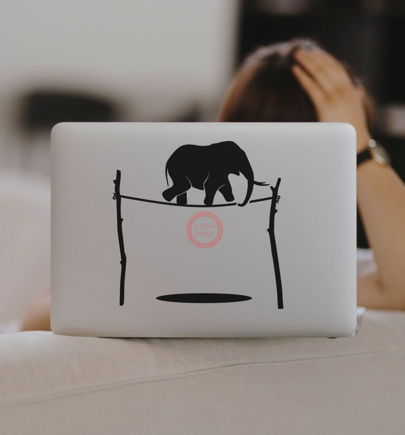 SVG  The Elephant and the Rope // Laptops // Vector // image 0