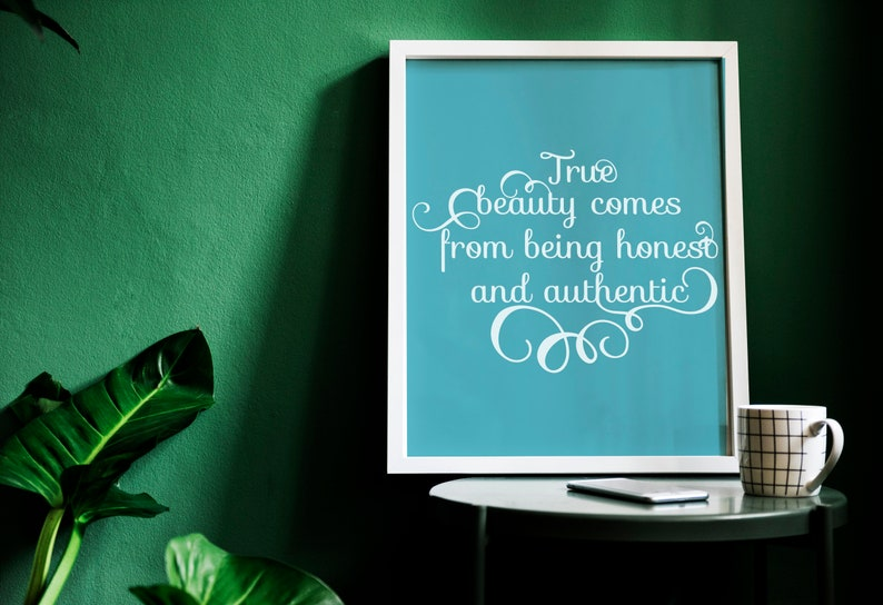 SVG  True Beauty comes from being honest and authentic // image 0