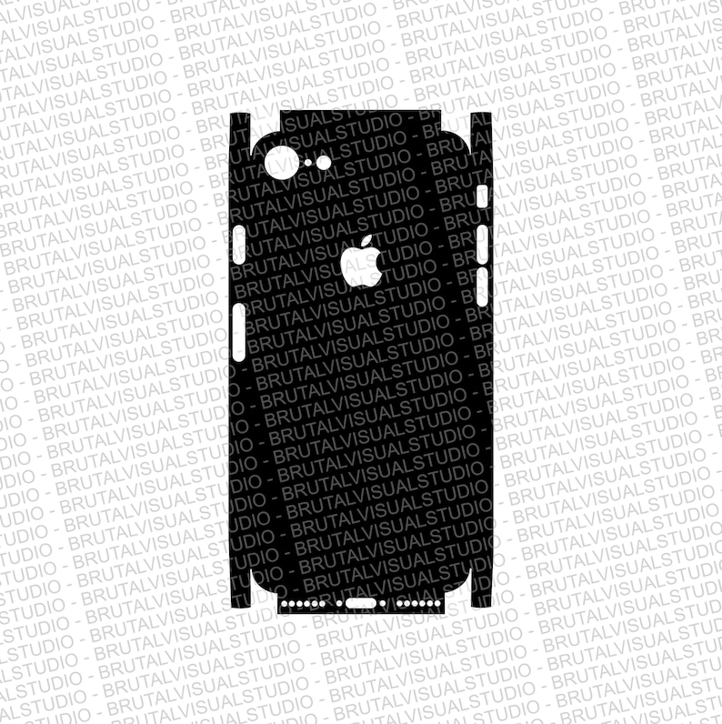 reputable site 57c15 e0e00 Iphone 8 - Skin Cut Template - Templates for cutting or machining - Digital  Download - Plotter, CNC, Laser Cutter - SVG - Full Wrap