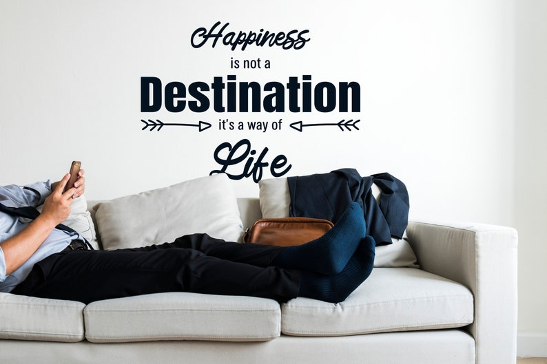 SVG  Happiness is not a Destination // Its a way of life // image 0