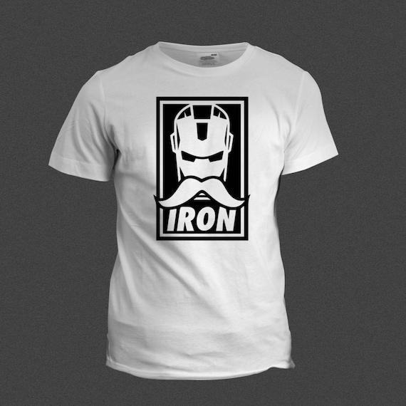 Iron Man Moustache Tshirt AKA IronStashe, Funny Tshirt, Shirt tee cool tshirt funny marvel iron man ironman moustache ironstashe hipster