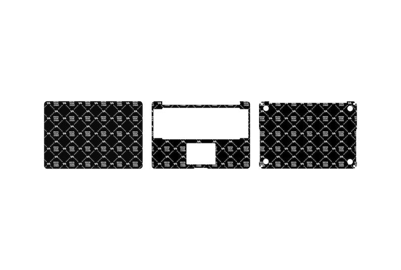 SVG  Macbook Pro 15 Retina Skin template // Digital Download image 0