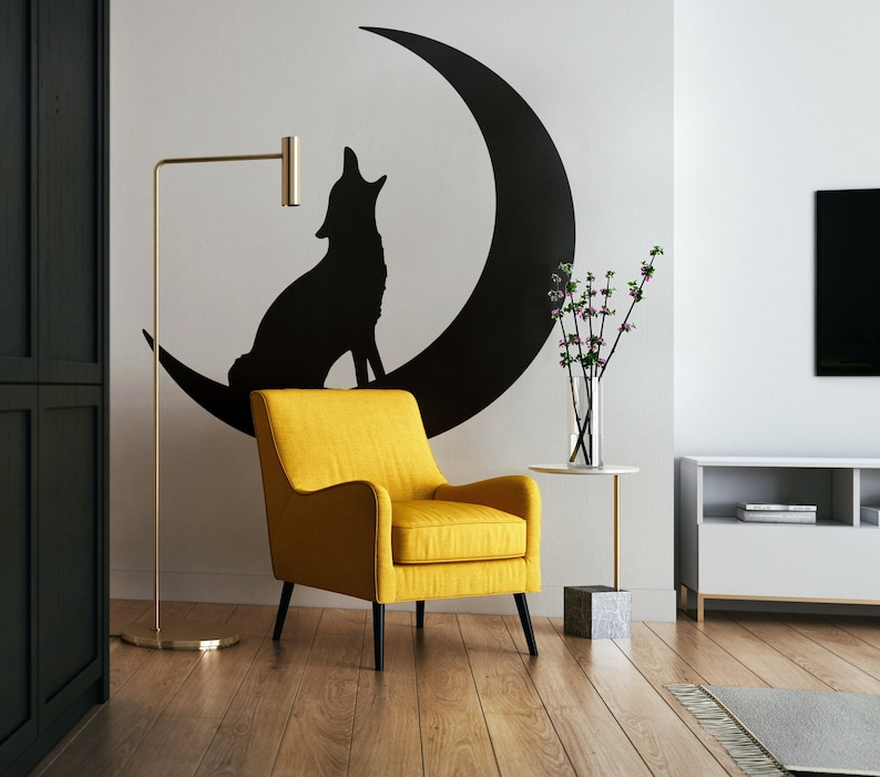 SVG  Howling Moon Wolf // Inspiring Vector // Universally image 0
