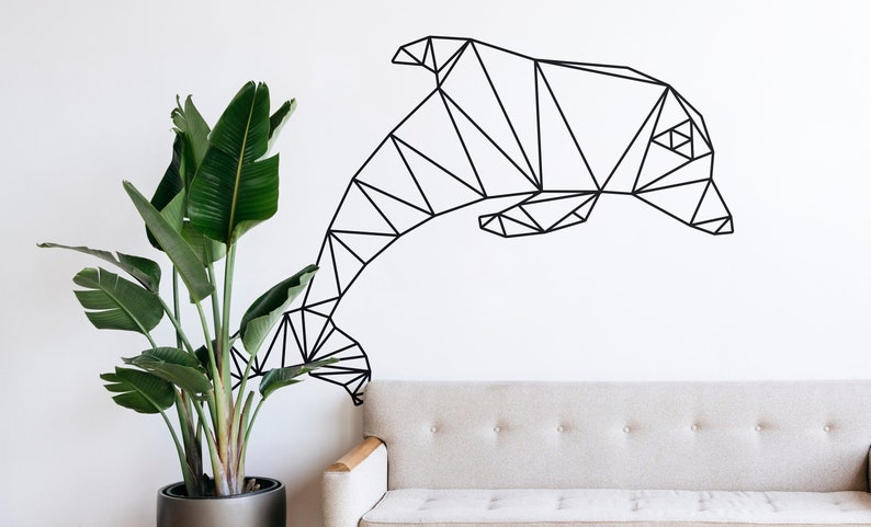 SVG  Low Polygon Dolphin  // eps pdf psd dxf jpg png bmp // image 0