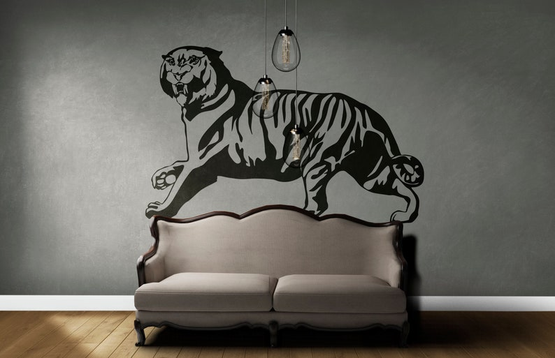 SVG  Raging Bengal Tiger // Vector // Universally Compatible image 0