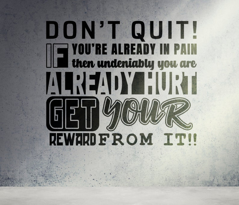 SVG  Dont Quit // Get your Reward // Perfect for plotters image 0