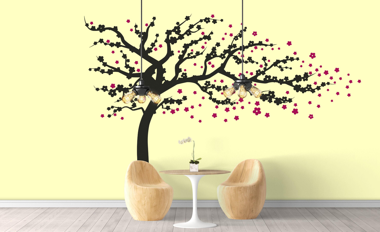 Japanese Cherry Blossom Tree at the wind, Sakura, Inspiring Vinyl ...