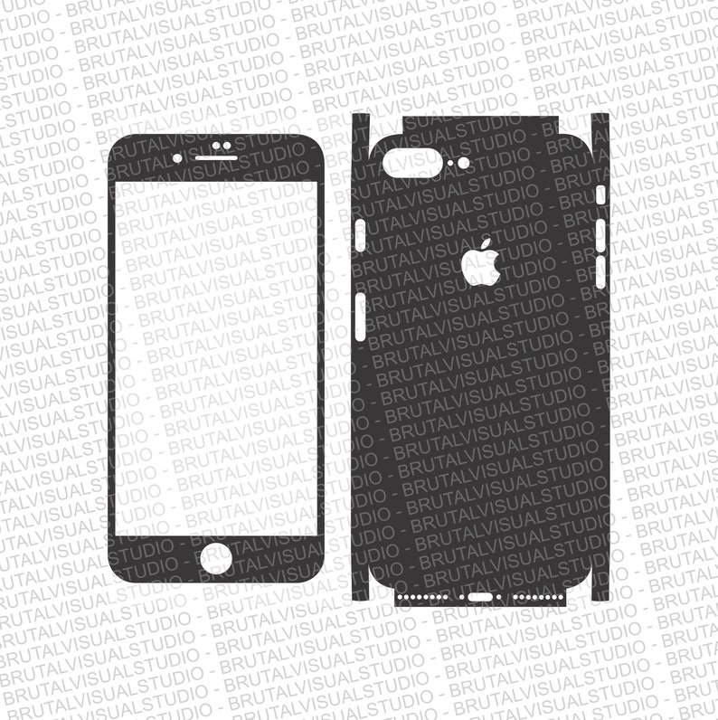 super popular b3ae1 03fbf Iphone 8 Plus - Skin Cut Template - Templates for cutting or machining -  Digital Download - Plotter, CNC, Laser Cutter - SVG - Full Wrap