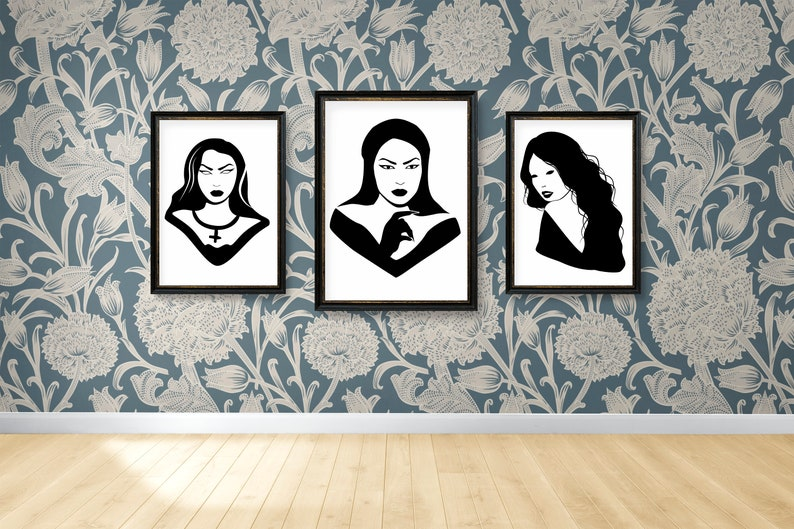 SVG  Gothic Girl No 8 // Universally Compatible Cut Files // image 0