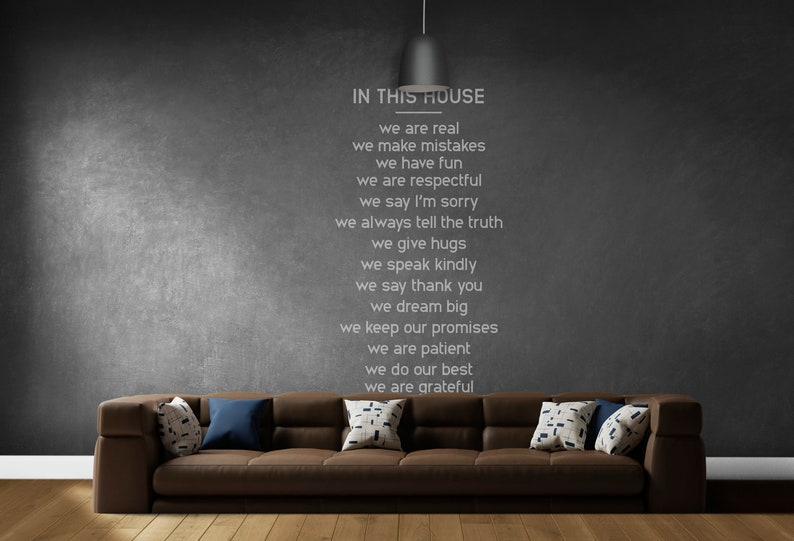 SVG  In this house // Typography Vector // Universally image 0