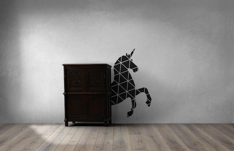 SVG  Geometric Minimalist Unicorn // Vector // Universally image 0