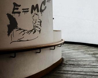 Einstein - EMC2 Decalque Autocolante decorativo de parede em Vinil