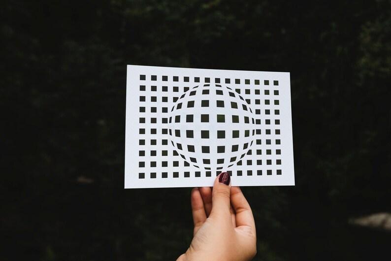 SVG  Geometric Forms No 3 // Digital Stencil // Universally image 0