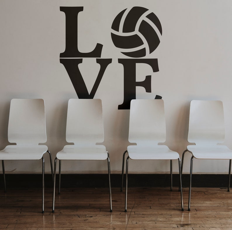 SVG  Love Volleyball // Vector Typography // Universally image 0