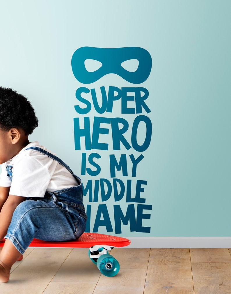 SVG  Super Hero is my middle name // Vector Typography // image 0