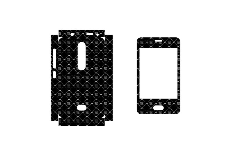 SVG  Nokia Asha 501 // Skin Cut Template for cutting image 0