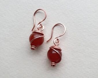 April Birthstone Rock Quartz Earrings Titanium Earrings Small Earrings Wire Wrapped Earrings Earrings Handmade E1820 Gem Jewelry