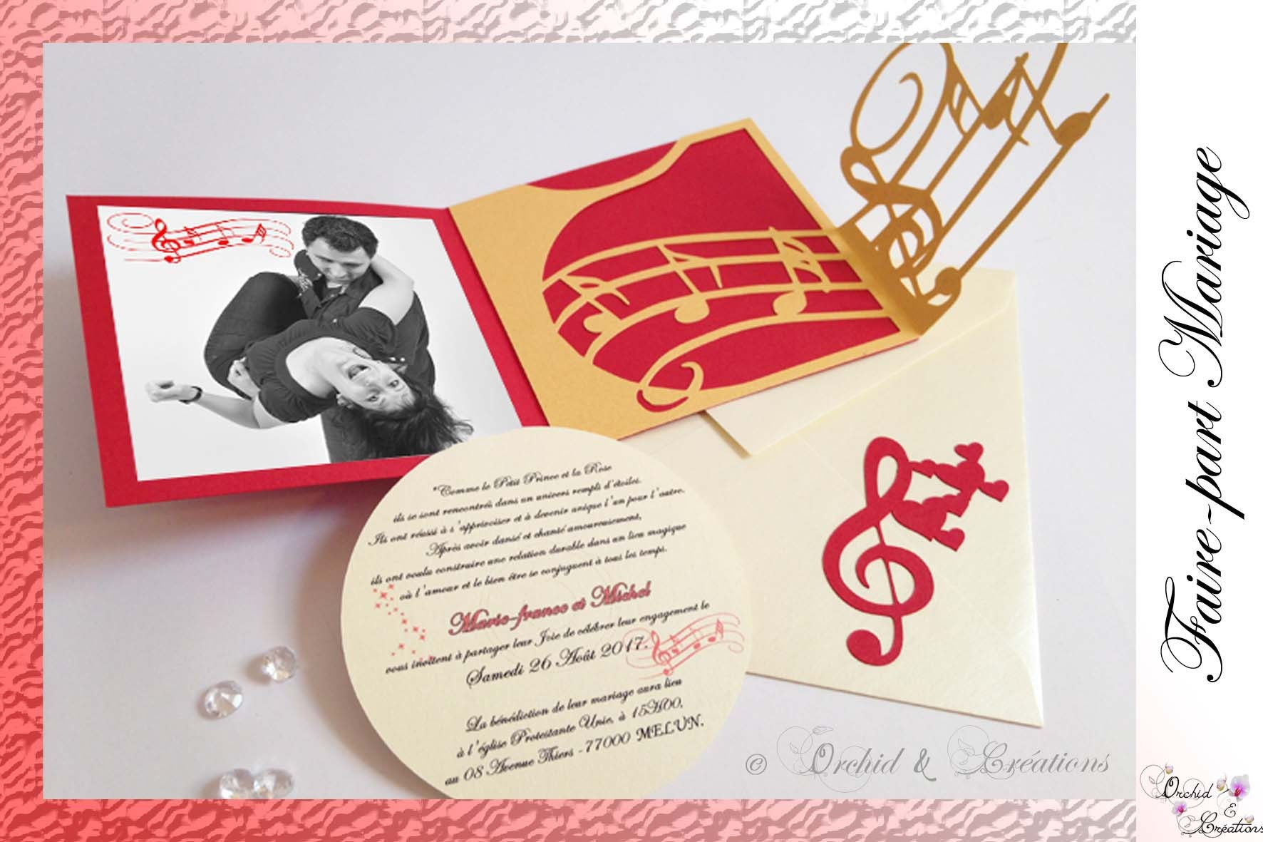 Wedding announcement Music Rockabilly way Pocket Calendar
