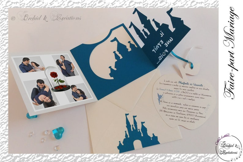 Magical Wedding Invitation Castle Princess Disney Way