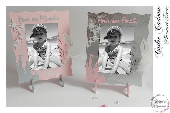 Fille cadeau-naturel cadre photo avec des sentiments 60615