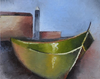 Oil on canvas: on the foreshore