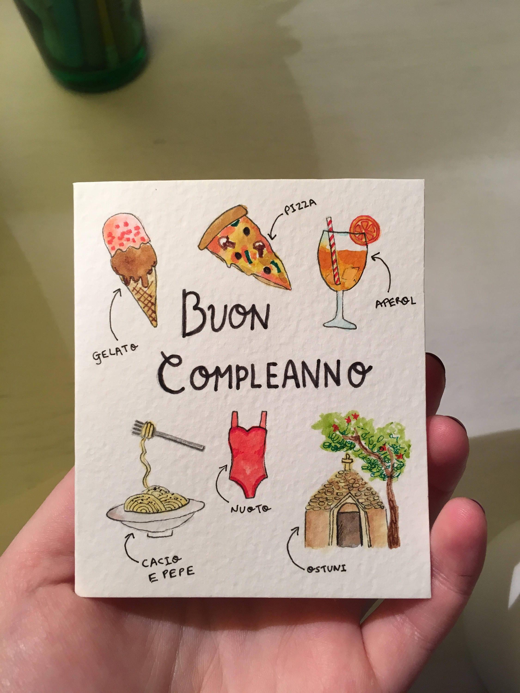 Buon Compleanno Card Italian Happy Birthday