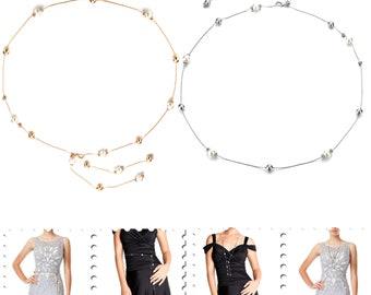 Dames strass Diamante Argent ou Or Perles Perles Ceinture Chaîne Charme  Ceinture Avec Déclencheur Meilleur Accessoires De Ceinture Femmes 62ccb93862b