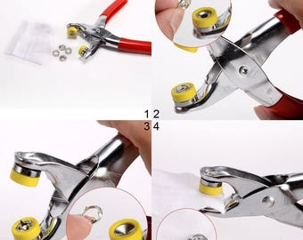 Fastener Snap Buttons Prong Ring Fastener Pliers Stud Press Fixing Tool