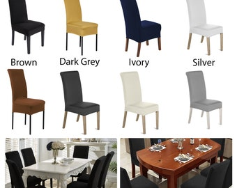 Spandex Lycra Short Style Dining Chair Cover Stretch Slipcover For Wedding Party Banquet Dinner Meeting Celebration
