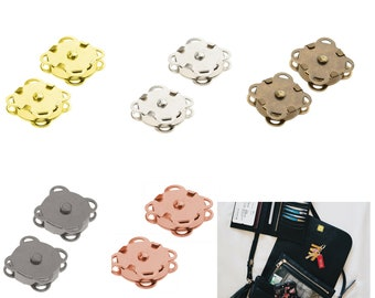 10//20 x Invisible Sew Magnetic Snaps Magnet Button Purse Closure Fastener