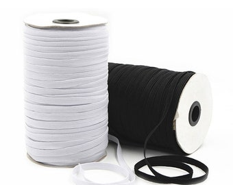 Soft Elastic Cord 5mm Strong Flat Rope Stretchable Coloured Band for Dressmaking
