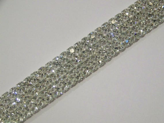 1M SS12 Rhinestone Chain Trim Diamante Crystal Silver Cake Decorations Toppers