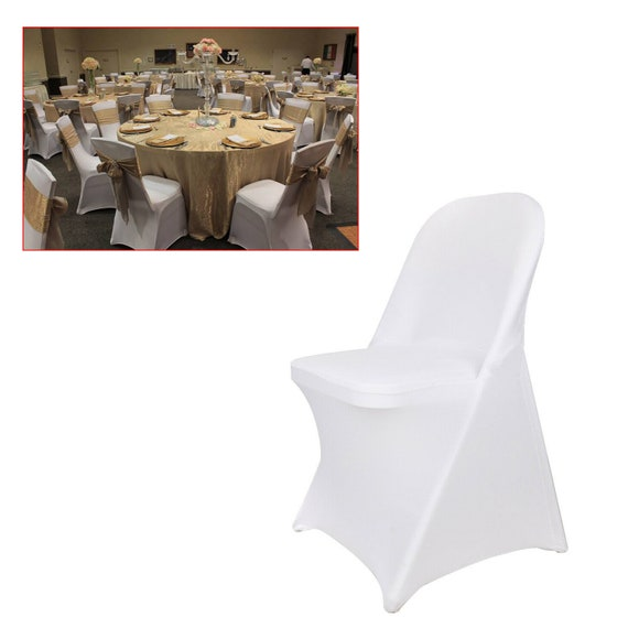 20 PCS Linen Polyester Folding Chair Cover Wedding Party Chair Slipcovers
