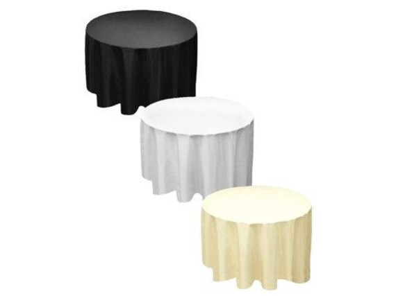 Polyester Round Table Cloth Cover For, Tablecloth For 20 Inch Round Table