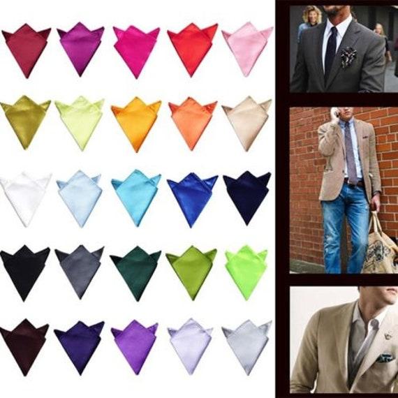 New Men Stylish Italian square Satin Wedding Party pocket Hanky Handkerchief