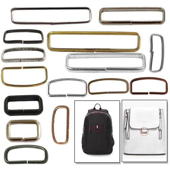 38mm 1 1//2/'/' Heavy Loop RECTANGLE Ring Metal Wire formed Handbag webbing Buckle