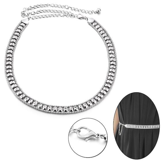 Ladies Rhinestones Pearl Diamante Metal Chain Waist Belt Girls Fashion Accessory