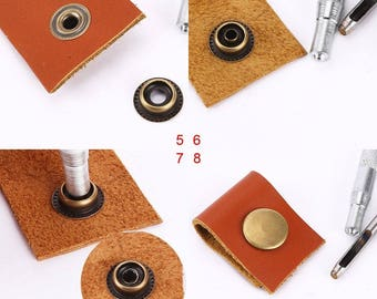 Press Studs - Heavy Duty Poppers - Snap Fasteners - Press Stud Sewing-  Rivet Leather Craft- For Clothing