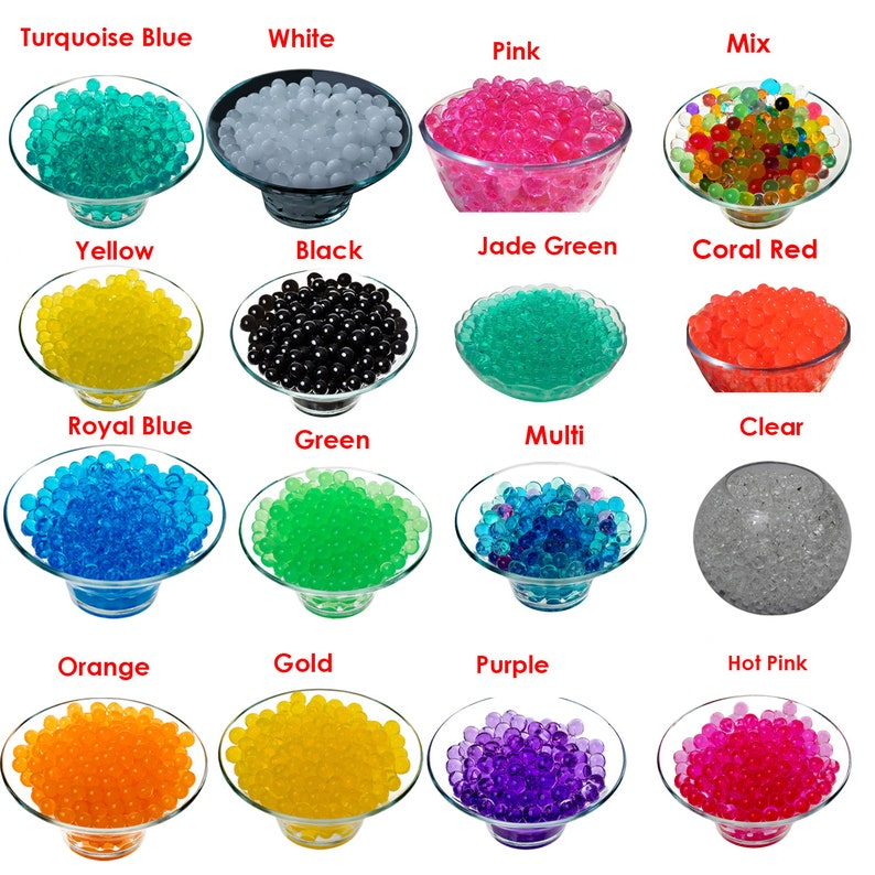 10g Water Beads Aqua Crystal for Any Floral Design Vase Filler Centerpieces  Décor