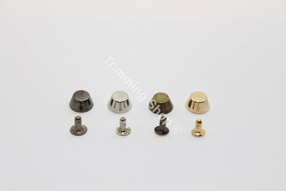 Punk Spike Cone Studs Buttons Rivets Fasteners Sewing Leather Craft Jean 10mm